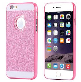 Glitter Skal - Iphone 6/6S  - Gnistrande Stenar - Lyx -Rosa