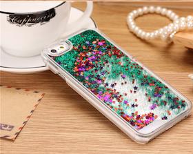 Glitter Skal - Iphone 6/6S  - Rörelse - Grön