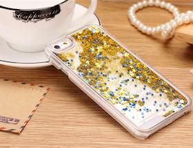 Glitter Skal - Iphone 6/6S  - Rörelse - Guld