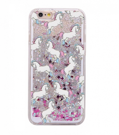 Glitter Skal Unicorn - Iphone 6/6S  - Rörelse - Silver