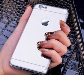 Iphone 6/6S - Spegelskal - Silver Mjukt