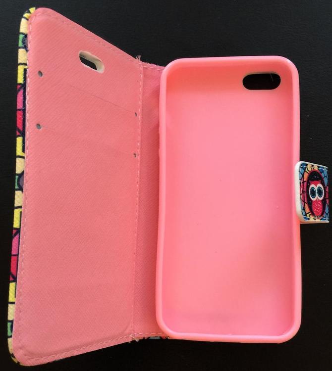 Iphone 5/5S/SE  - Plånbok- Uggla - Färgglad