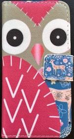 Iphone 5/5S/SE  - Plånbok- Uggla - Rådjur