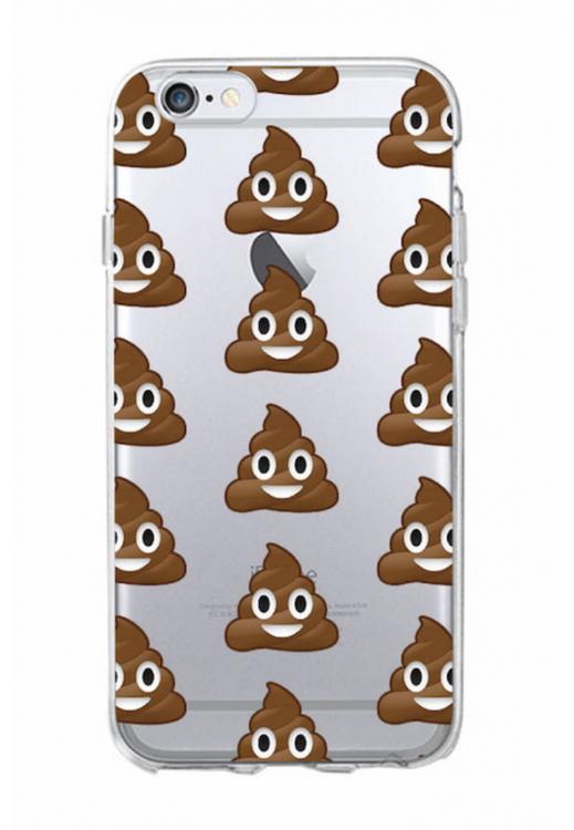 Iphone 5 / 5S / SE Skal - Emoji - Poop - Mjukt