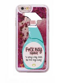 Iphone 5 / 5S / SE Skal - FUCK BOY - Rörelse - Glitter -Rosa