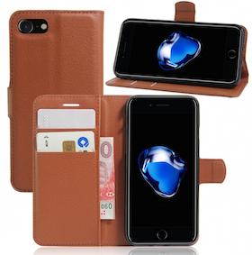Iphone 7/8  -Plånbok - Fodral - Brun