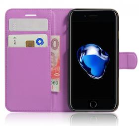 Iphone 7/8  -Plånbok - Fodral - Lila