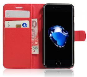 Iphone 7/8  -Plånbok - Fodral - Röd