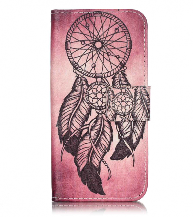 Iphone 7/8 - Plånboksfodral - Drömfångare - Lila/Rosa