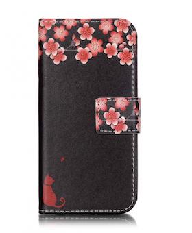 Iphone 7/8 - Plånboksfodral -  Katt & Blommor