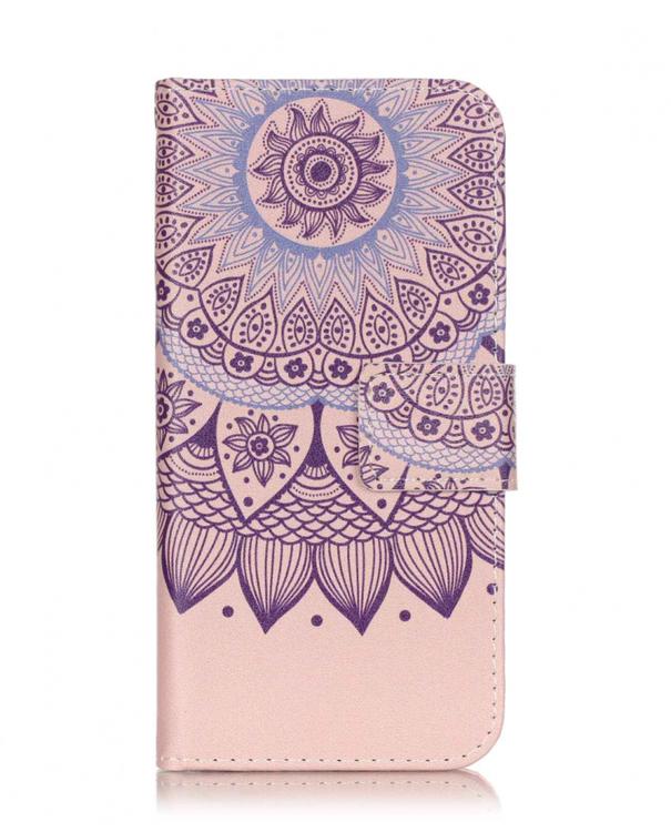 Iphone 7/8 - Plånboksfodral -  Drömfångare - LjusRosa