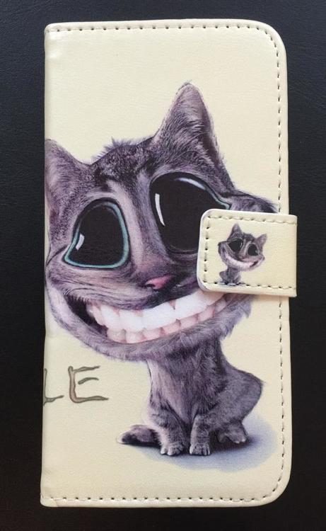 Iphone 7/8 - Plånboksfodral - Glad Katt