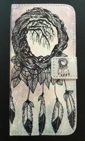 Iphone 7/8 - Plånboksfodral -Drömfångare Svart