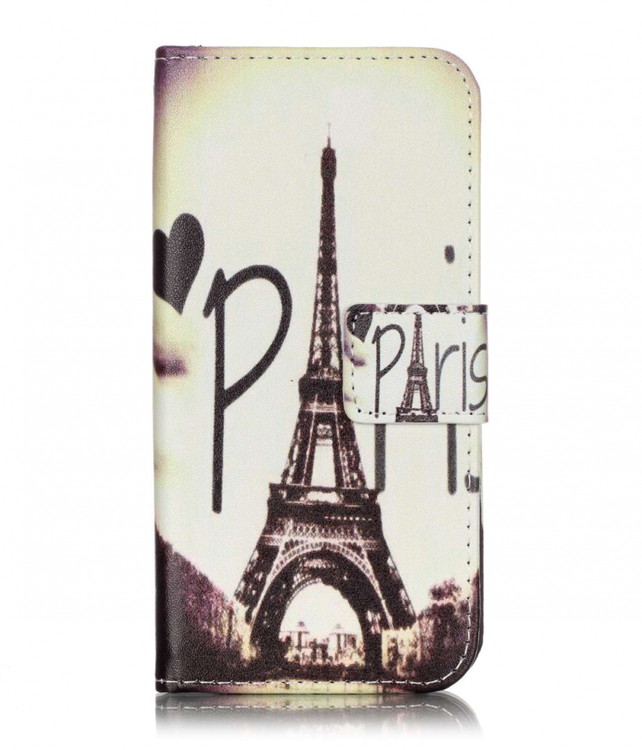 Iphone 7/8 - Plånboksfodral -Eiffeltornet - Hjärta
