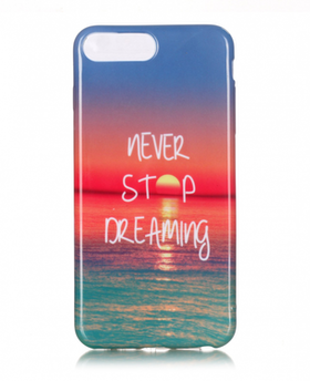Iphone 7/8  Skal - Solnedgång - Never Stop Dreaming - TPU
