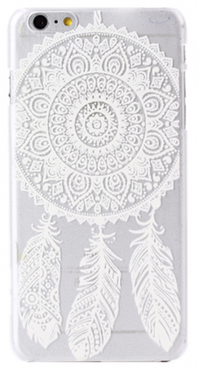 Iphone 7 Skal - Drömfångare - Mandala - Vit