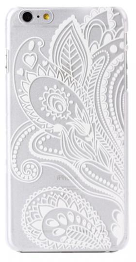 Iphone 7/8 - Skal - Paisley  - Vit
