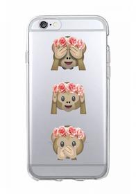 Iphone 5C Skal - Emoji - Tre Apor - Mjukt