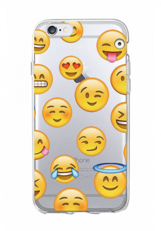 Iphone 5C Skal - Emoji - Alla favoriter - Smile- Mjukt