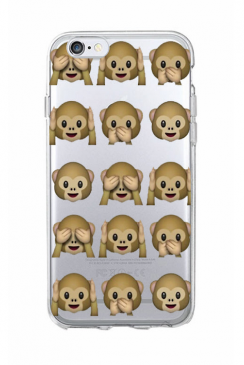 Iphone 5C Skal - Emoji - Monkeys- Mjukt