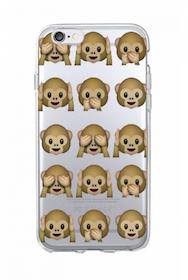 Iphone 5C Skal - Emoji - Monkeys- Mjukt