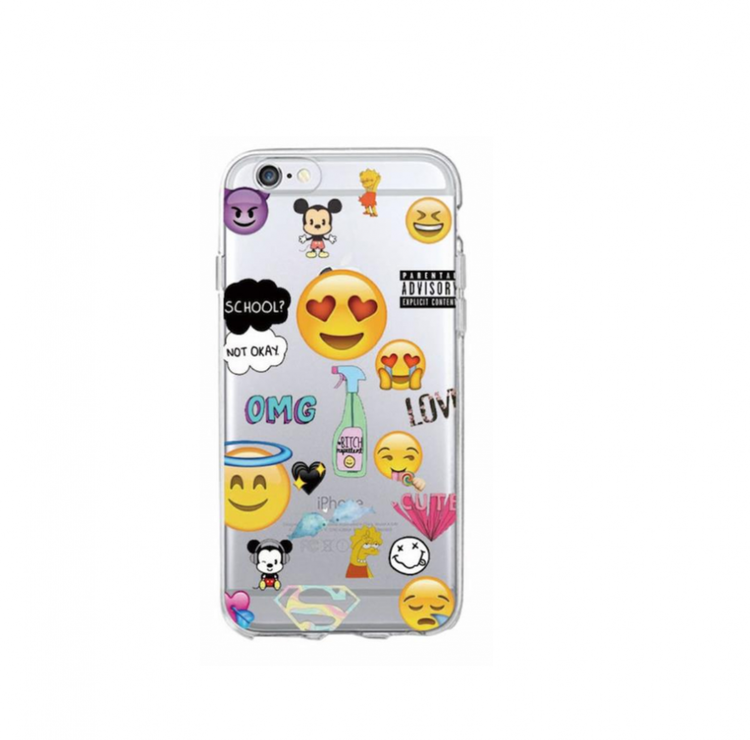 Iphone 5C Skal - Emoji - Blandade Favoriter - Mjukt