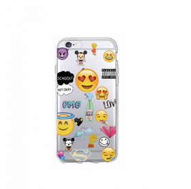 Iphone 5C Skal - Emoji - Blandade Favoriter - Mjukt