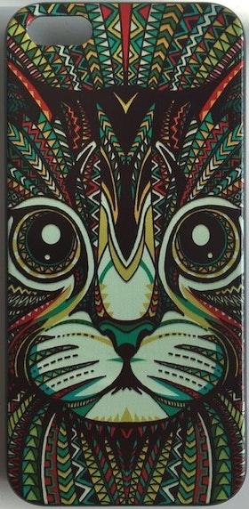 Iphone 5C Skal - Katt - Aztek - Färg