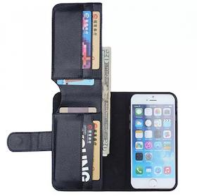Iphone 5C Plånbok - 8 kortplatser - Svart