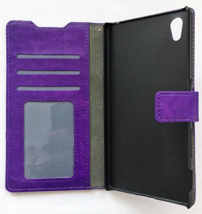 Sony Xperia Z5 Plånboksfodral - Crazy Horse - Lila