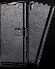 Sony Xperia Z5 Plånboksfodral - Crazy Horse - Svart
