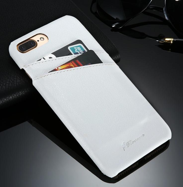 Iphone 7/8 - Plånbok - Skal Korthållare - Vintage - Vit