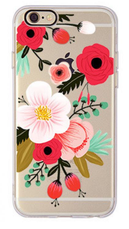Iphone 6 / 6S Skal -Blommor Härliga Färger - Mjukt