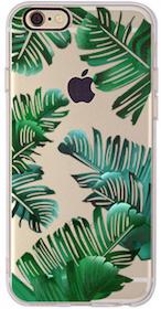 Iphone 6 / 6S Skal -Gröna Blad - Mjukt