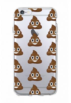 Iphone 6 / 6S Skal - Emoji - Poop - Mjukt