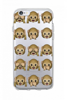Iphone 6 / 6S Skal - Emoji - Monkeys - Mjukt