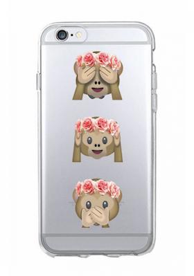 Iphone 6 / 6S Skal - Emoji - Tre Apor - Mjukt