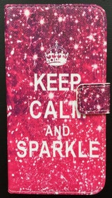 Samsung Galaxy S6 - Plånbok - Motiv - Keep Calm And Sparkle