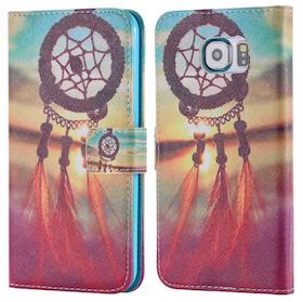 Samsung Galaxy S6 Plånbok - Motiv -Drömfångare - Färg