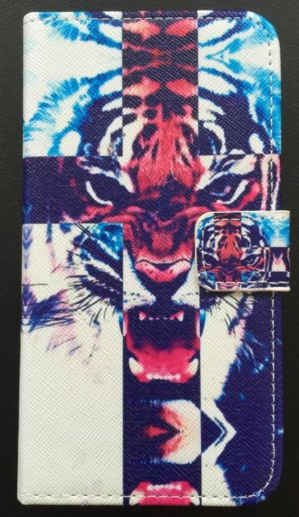 Samsung Galaxy S6 Plånbok - Motiv - Tiger  - Färg