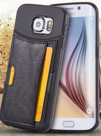 Samsung Galaxy S6 Skal - Slimmat - Med Kortplatser - Svart