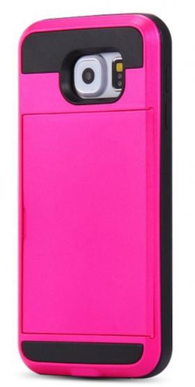 Samsung Galaxy S6 - Skal Med Slidefunktion - Plånbok - Rosa