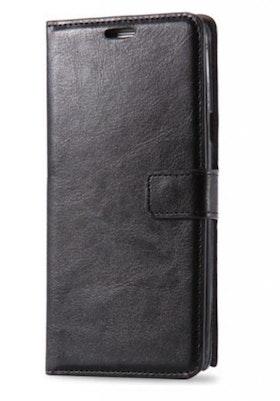 Samsung Galaxy S6 - Plånbok -Crazy Horse - ID- Fack - Svart