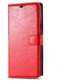 Samsung Galaxy S6 - Plånbok -Crazy Horse - ID- Fack - Röd