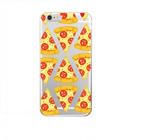 Iphone 7/8 Skal - Emoji - Pizza - Salami - Mjukt
