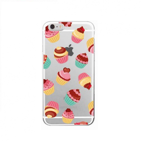 Iphone 7/8 Skal -Cupcakes Färgglada - Mjukt