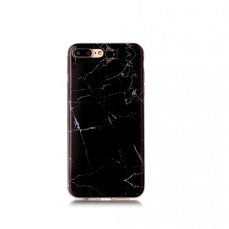 Iphone 5 / 5S / SE  - Marble - Marmor Case - Svart med silverstänk  - Mjukt