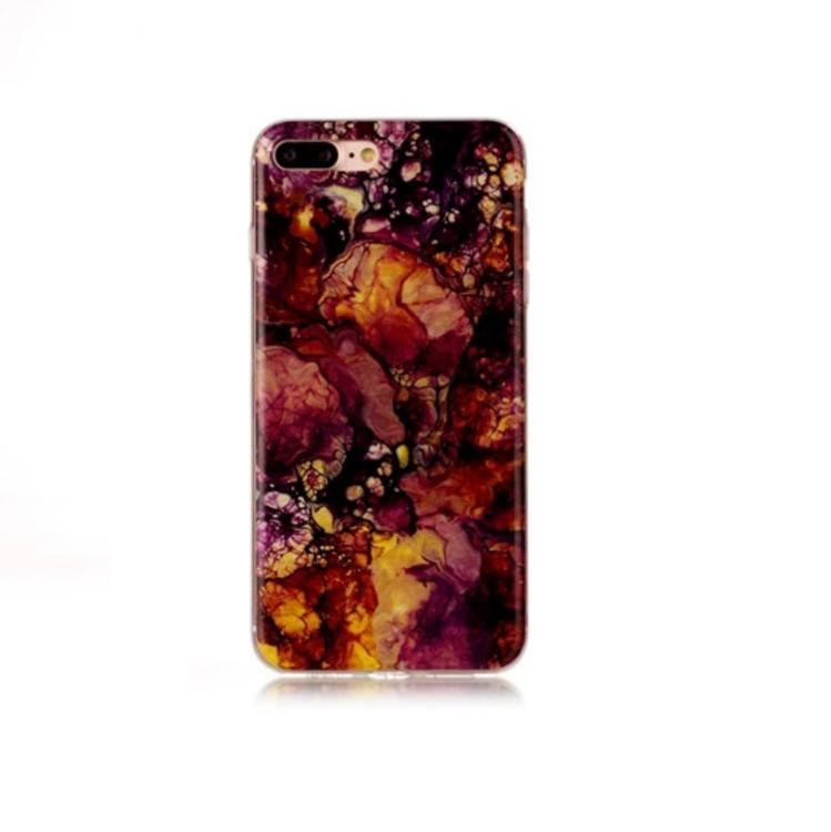 Iphone 5 / 5S / SE  -  Marble - Marmor Case -Rödbrun- Mjukt