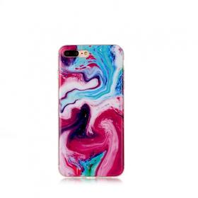 Iphone 5C  - Marble - Marmor Case- Färgglad - Mjukt