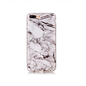 Iphone 5C  - Marble - Marmor Case- VitSvart- Mjukt